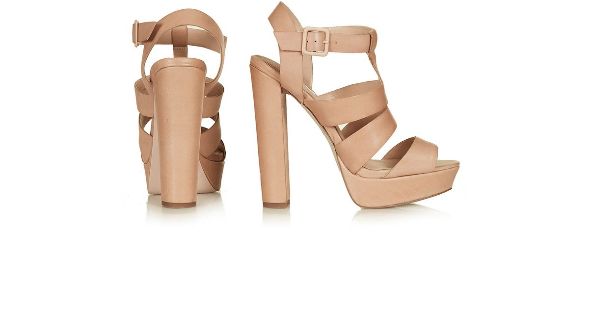 Topshop Womens Lucy Gladiator Sandals Nude in Natural | Lyst