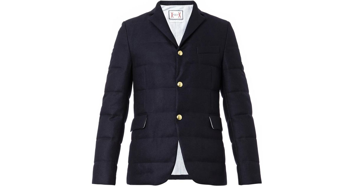 270c3ad4eeca Lyst - Moncler Gamme Bleu Quilted Wool-flannel Blazer in Blue for Men