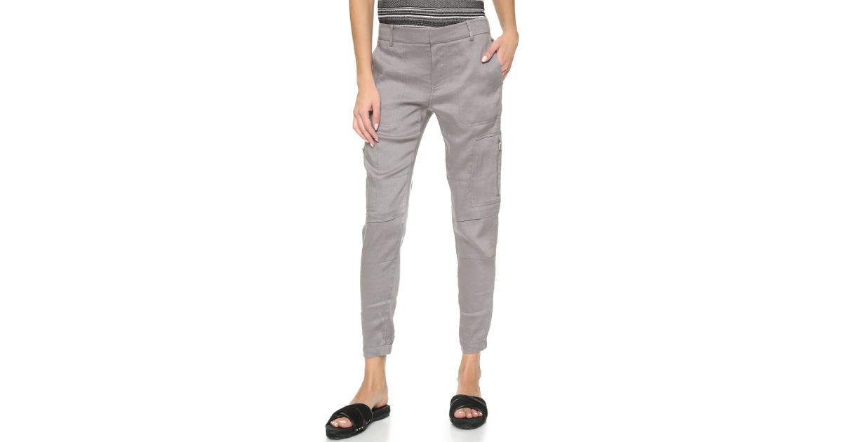 Perfect Linen Cargo Pants Sale Women39s Clothing LOFT  Polyvore