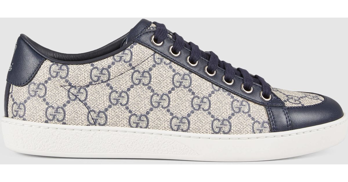 hot new products good out x new high Gucci Blue Brooklyn GG Supreme Sneaker