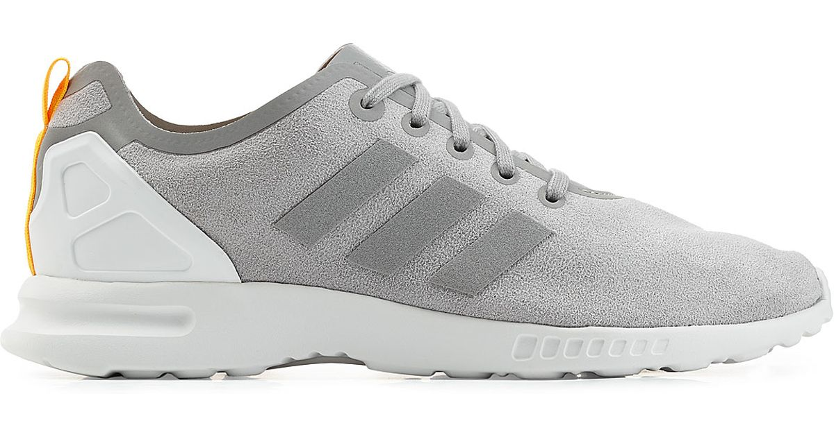 Adidas Originals Gray Zx Flux Smooth Sneakers Grey for men