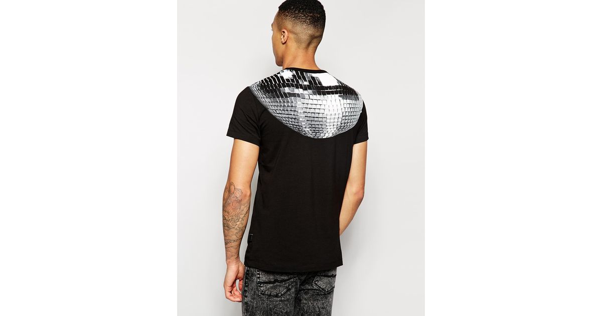 Lyst Love Moschino Disco Ball T Shirt In Black For Men