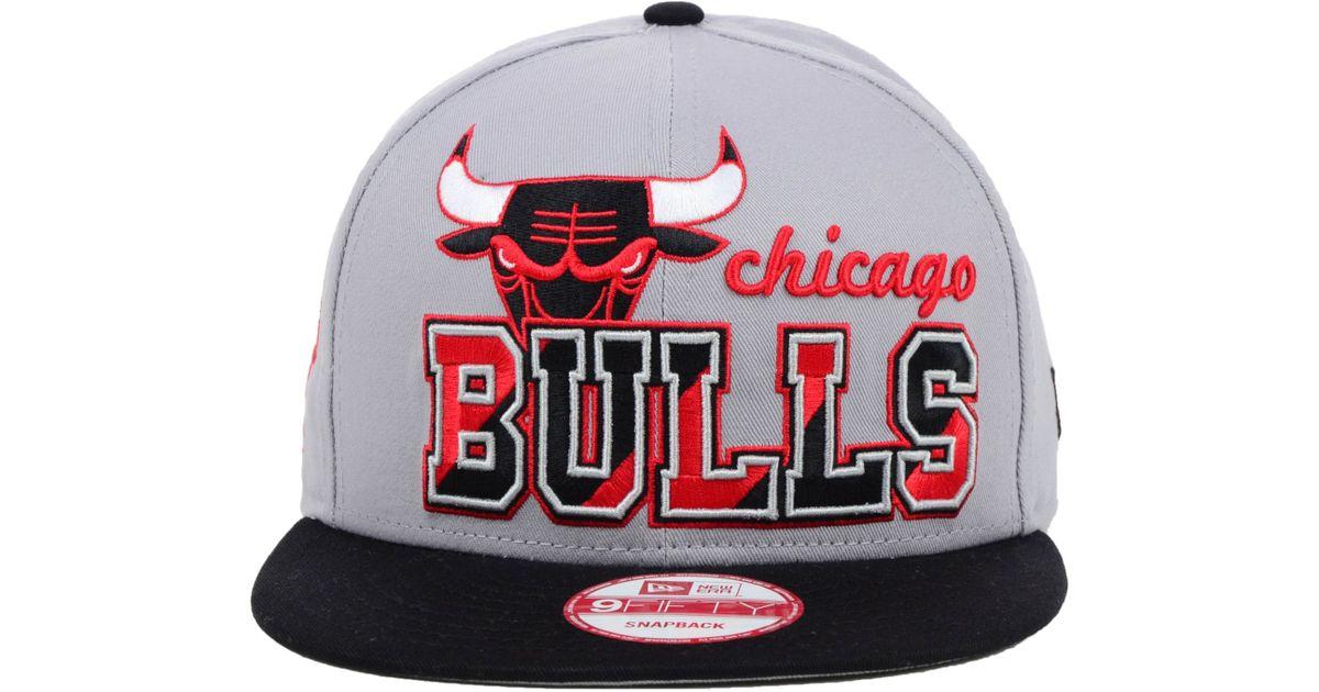 d92a040232f Lyst - KTZ Chicago Bulls Nba Hardwood Classics Zone Press 9Fifty Snapback  Cap in Gray for Men
