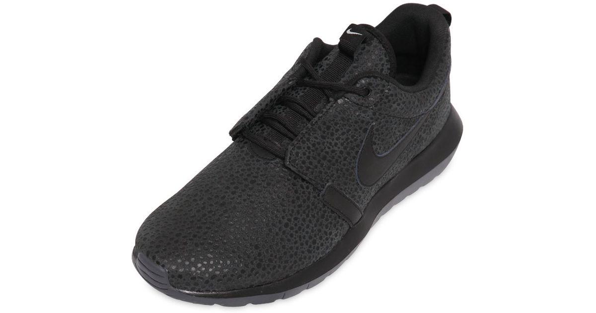 f89ec9471b7d Nike - Black Roshe Run Nm Safari Sneakers for Men - Lyst