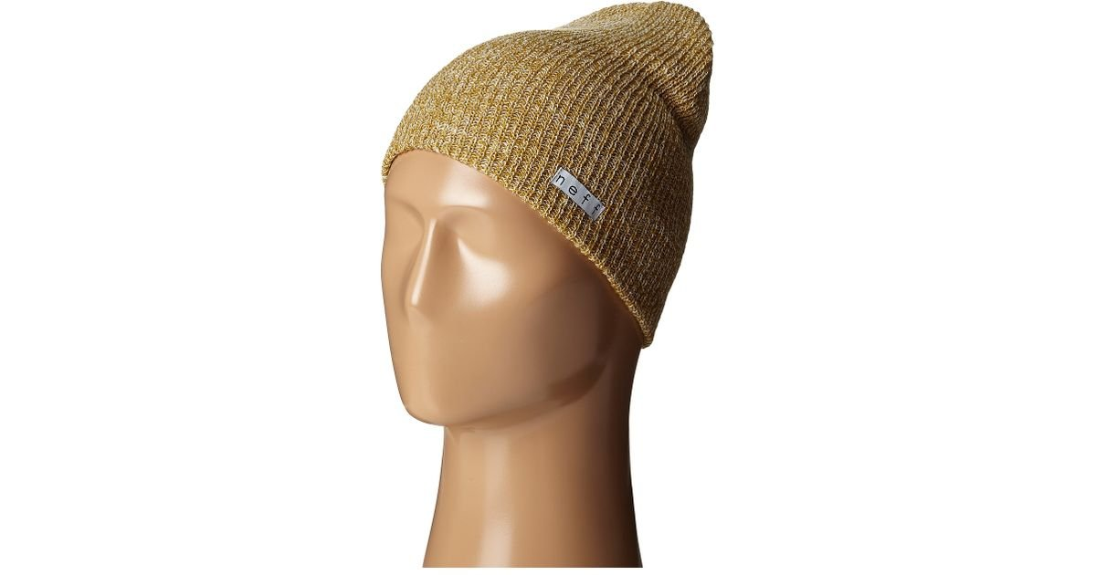 best sneakers 08966 cfb5e Lyst - Neff Daily Heather Beanie in Metallic for Men
