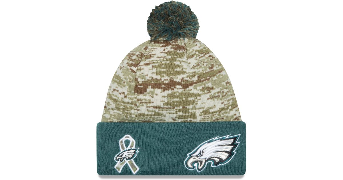 ... discount lyst ktz philadelphia eagles salute to service knit hat in  green for men beb2a 5ad8e c1cd536a7