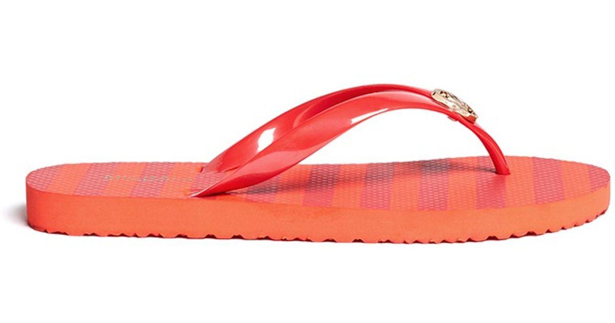Medallion Flip Flops