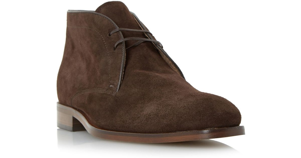 roland cartier carrick suede lace up chukka boot in brown