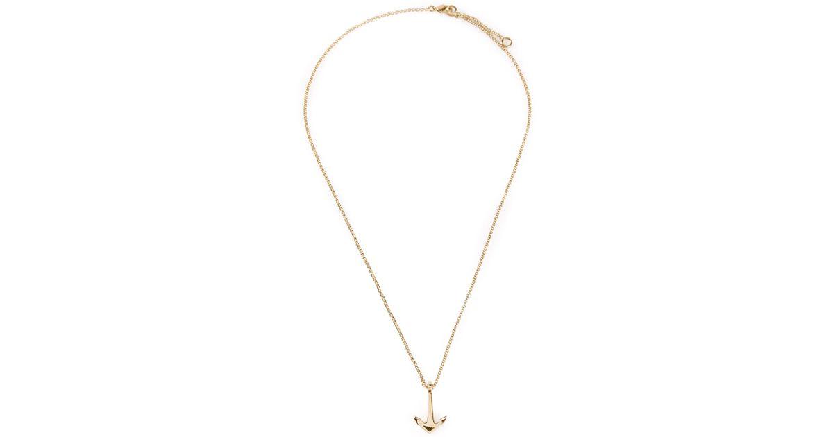 Paul Hewitt anchor pendant necklace - Metallic 7okQf
