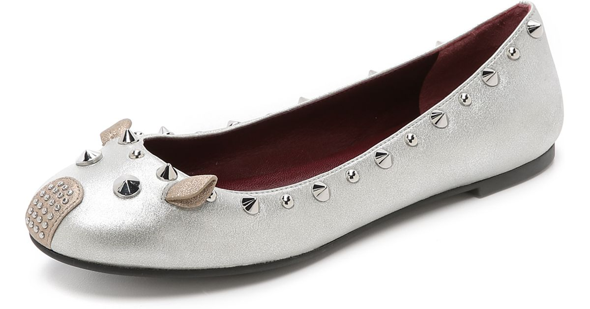 Marc By Marc Jacobs Metallic Studded Punk Mouse Flats