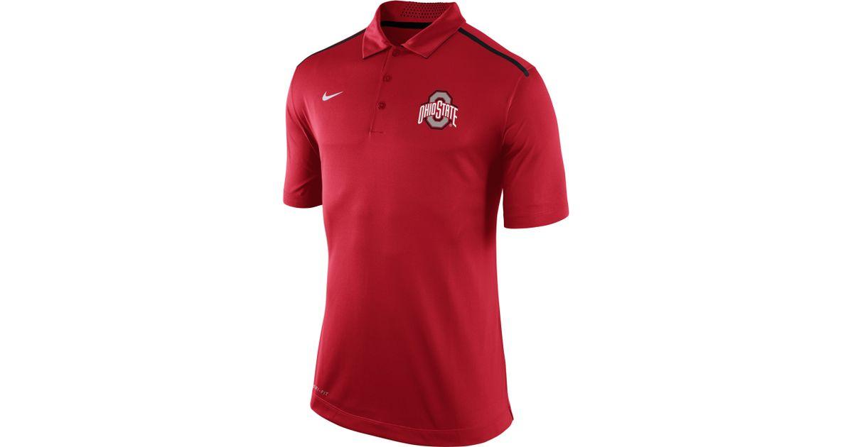 Nike Men S Ohio State Buckeyes Elite Coaches Polo Shirt In