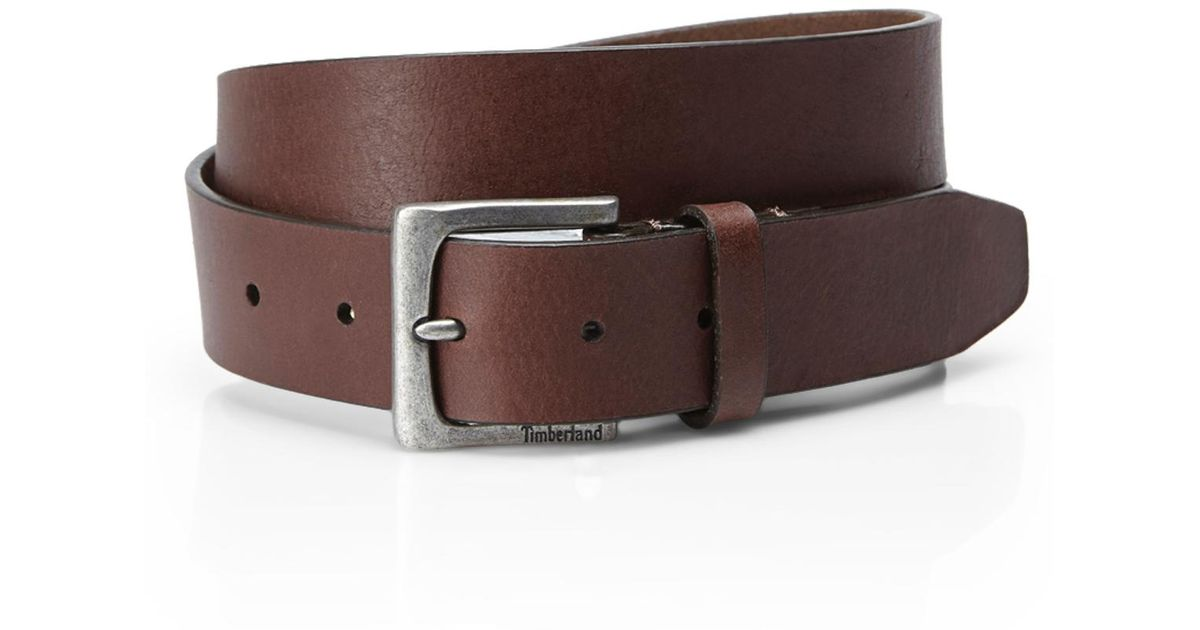 timberland adjustable leather belt in brown for lyst