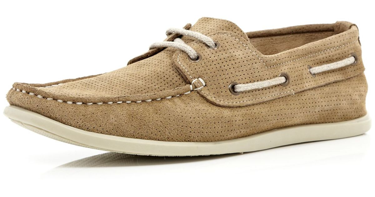 Light Island Boat River Brown Men Perforated In For Lyst Shoes I76byvYmfg