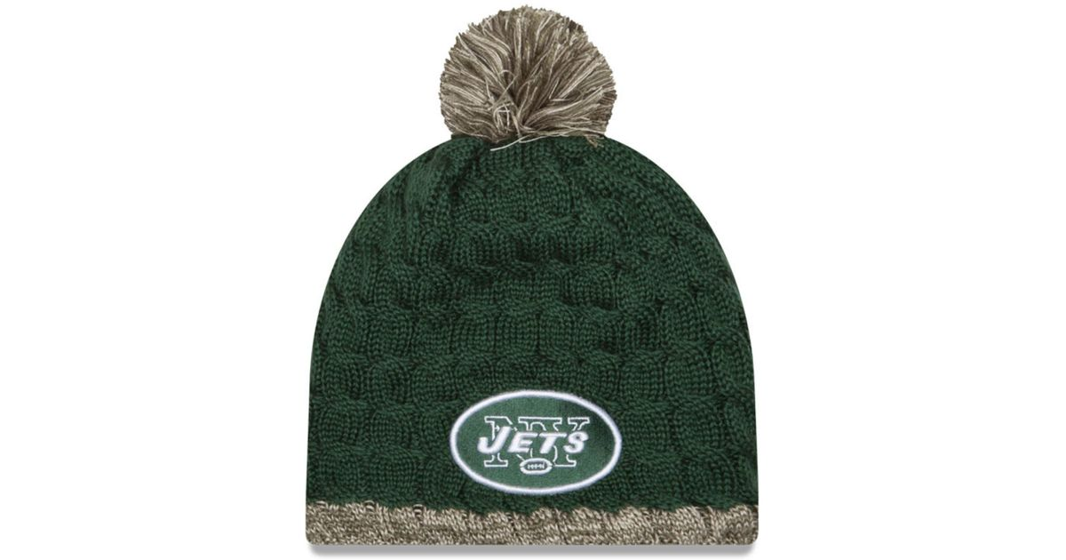 Lyst - Ktz Women s New York Jets Salute To Service Knit Hat in Green for Men 62733a92aa