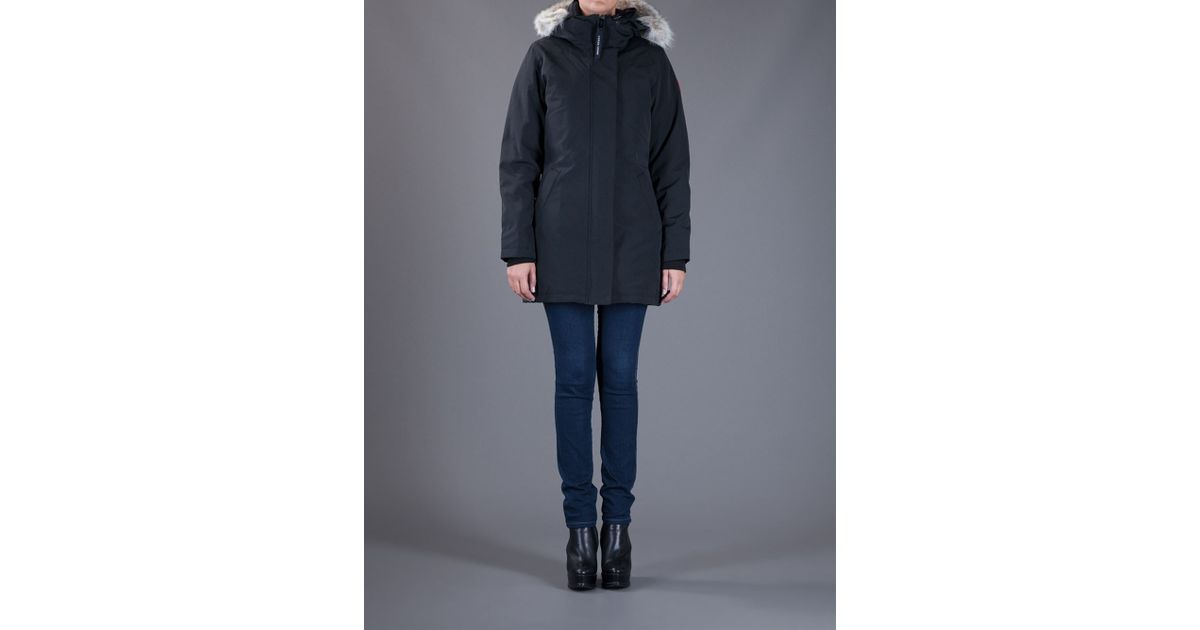 Canada Goose mens outlet cheap - Canada goose 'victoria' Parka in Black | Lyst