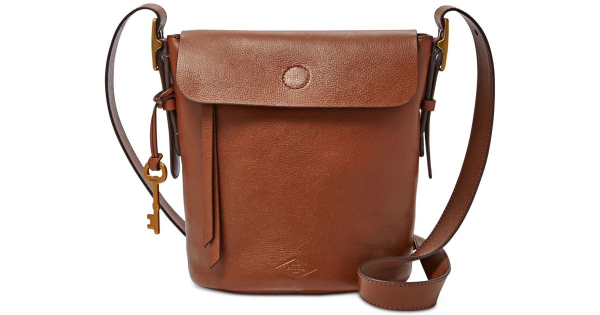 Fossil Haven Small Leather Bucket Bag