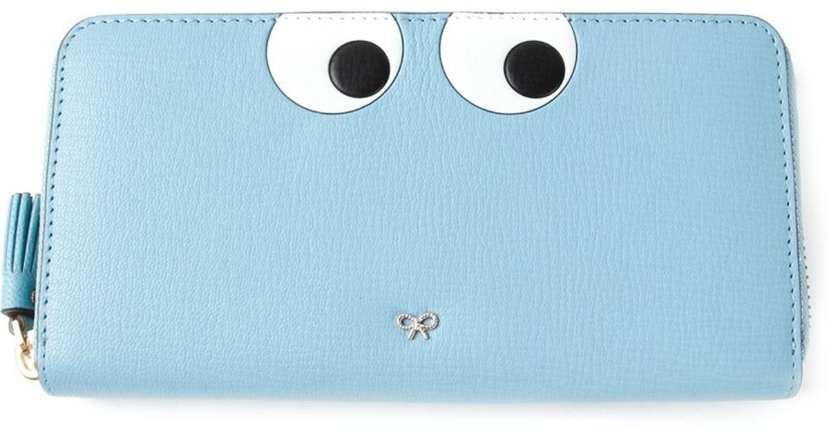 Cheap Real Eastbay Free Shipping Excellent Silver Small Eyes Zip Around Wallet Anya Hindmarch Free Shipping Footlocker Finishline Shop Offer Sale Pictures 5F7XbGH