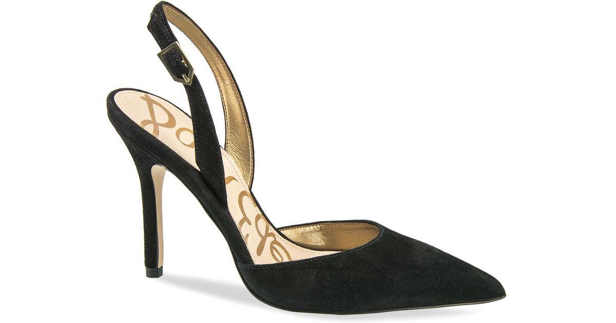 fcf4aeddfba8 Lyst - Sam Edelman Slingback Pumps - Dora Pointed Toe in Black
