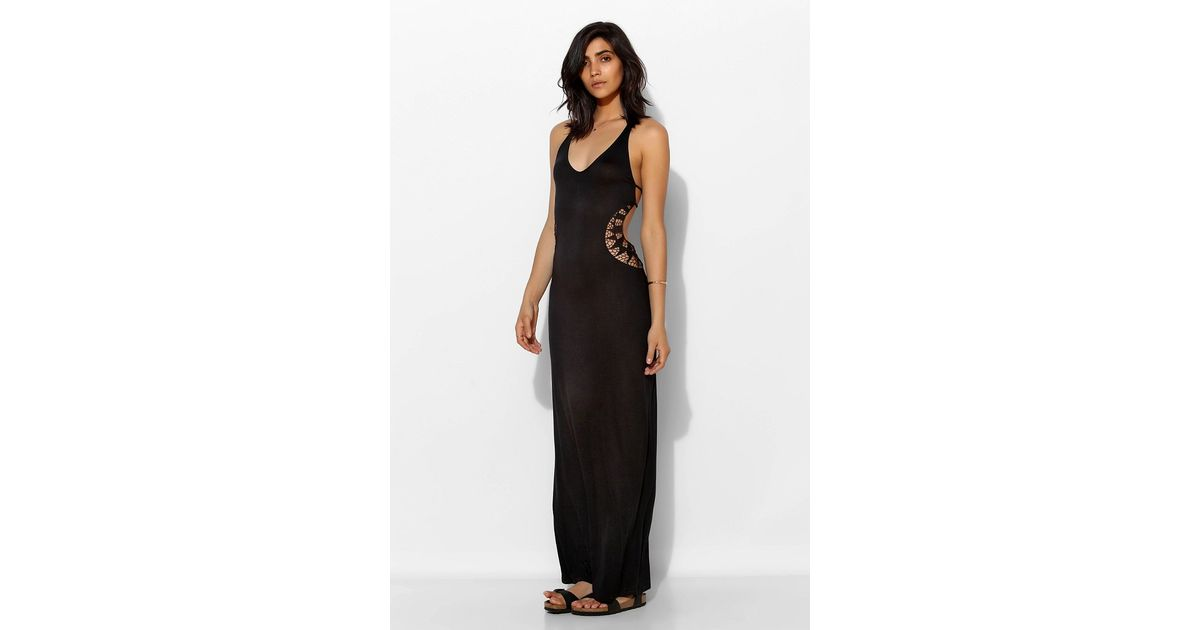 Lyst Staring At Stars Crochet Cutout Cover Up Maxi Dress In Black