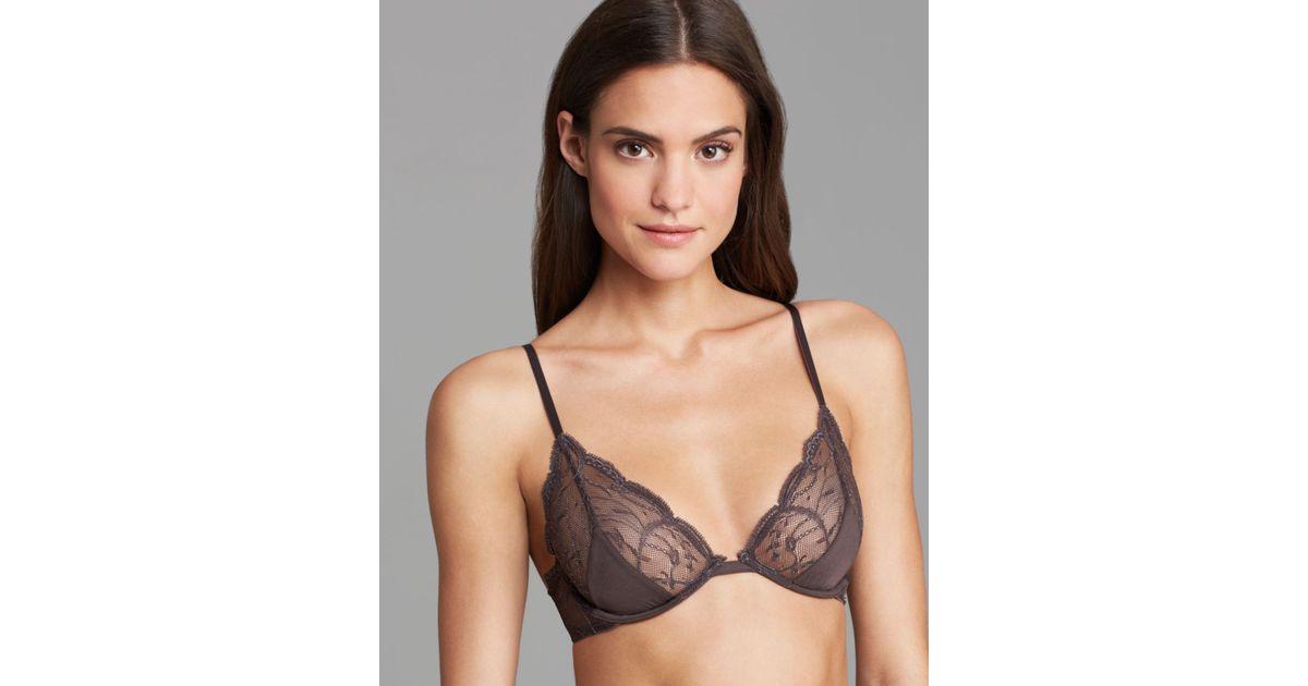 68e8f246e0 Lyst - Calvin Klein Bra Subtlety Bare Unlined Underwire in Gray