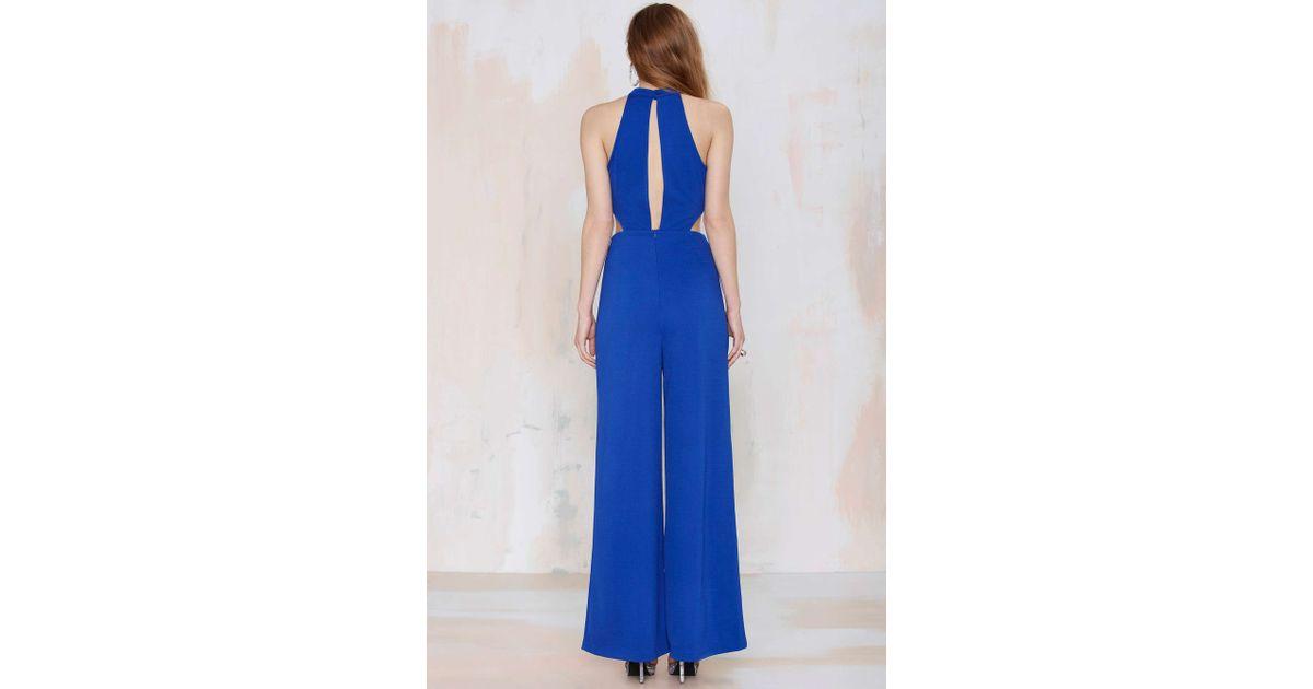 30692846bce9 Lyst - Nasty Gal Jeslina Cutout Jumpsuit - Blue in Blue