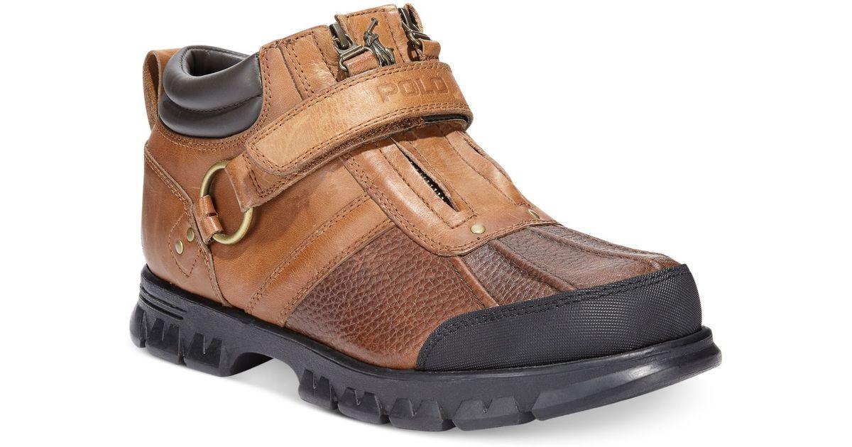 Polo Low Conquest For Ralph Lauren Men Boots Brown PkXuiOZ