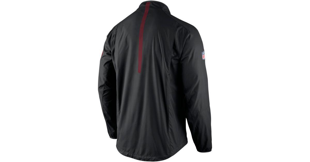 20773e15 Nike Men's Washington Redskins Lockdown Half-zip Jacket in Black for Men -  Lyst