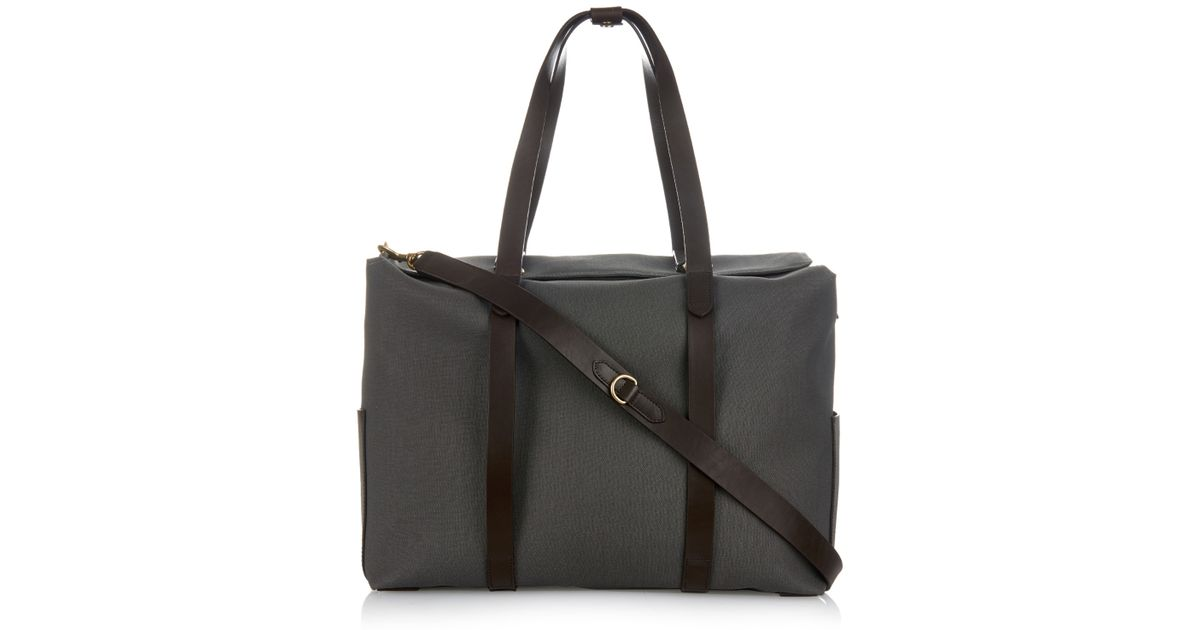 Mismo Gray M S Mega Tote Canvas And Leather Bag For Men
