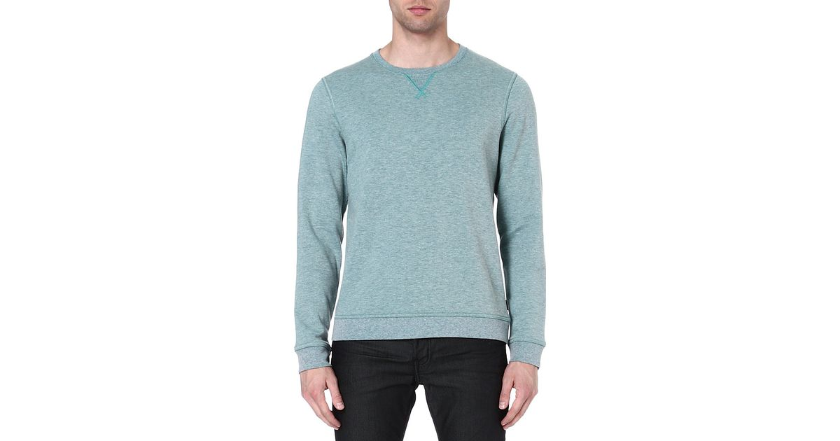 60cce1103 Ted Baker Loocy Jersey Sweatshirt Green in Green for Men - Lyst