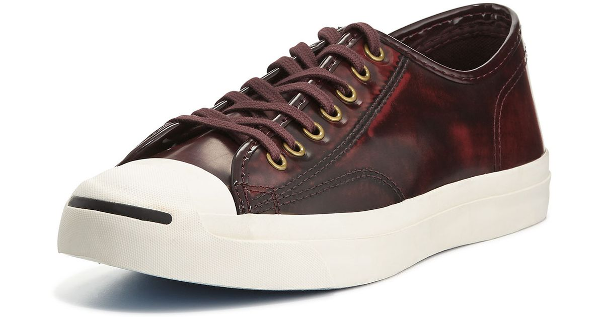 660eb0fd451110 Lyst - Converse Jack Purcell Marbled Leather Sneakers in Red for Men