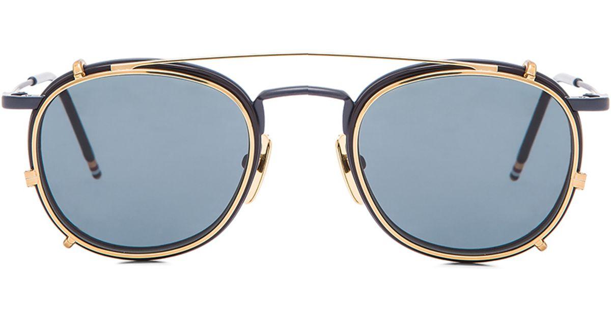8bd875f732f3 Lyst - Thom Browne Men S Clip On Sunglasses in Blue