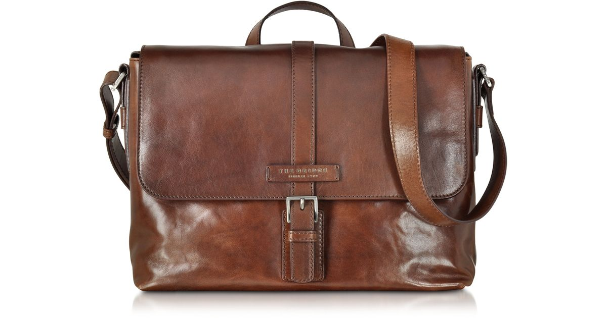 Lyst - The Bridge Marcopolo Viaggio Marrone Leather Messenger Bag in Brown  for Men b08043f499fc2