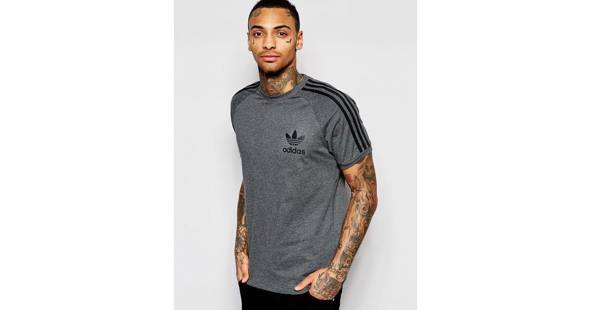 110d9388 adidas Originals California T-shirt Ap9020 in Gray for Men - Lyst