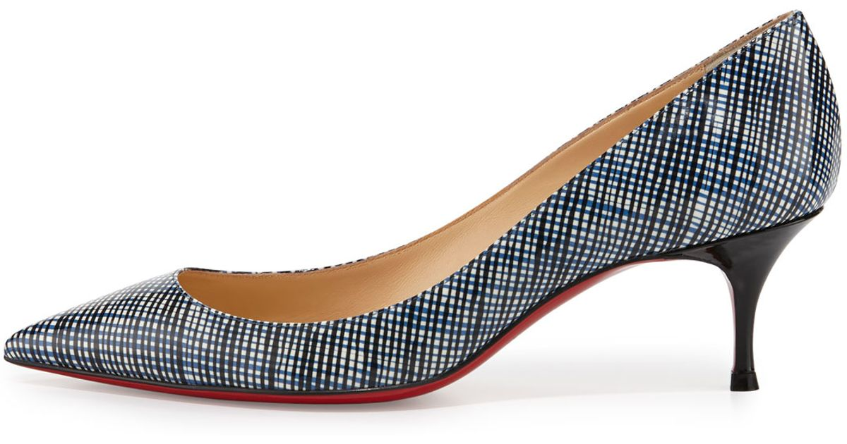 outlet store 34e1a 68bcb Christian Louboutin Blue Pigalle Follies 55mm Patent Red Sole Pump