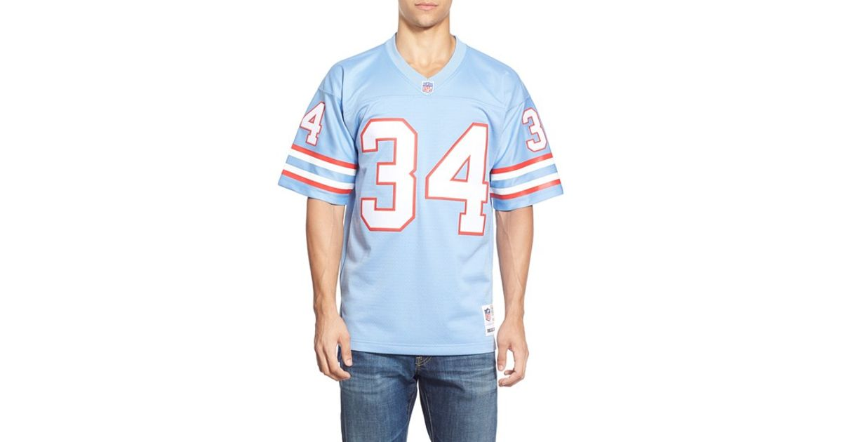 buy online 07eee 6c796 Mitchell & Ness Blue 'earl Campbell' Replica Jersey for men