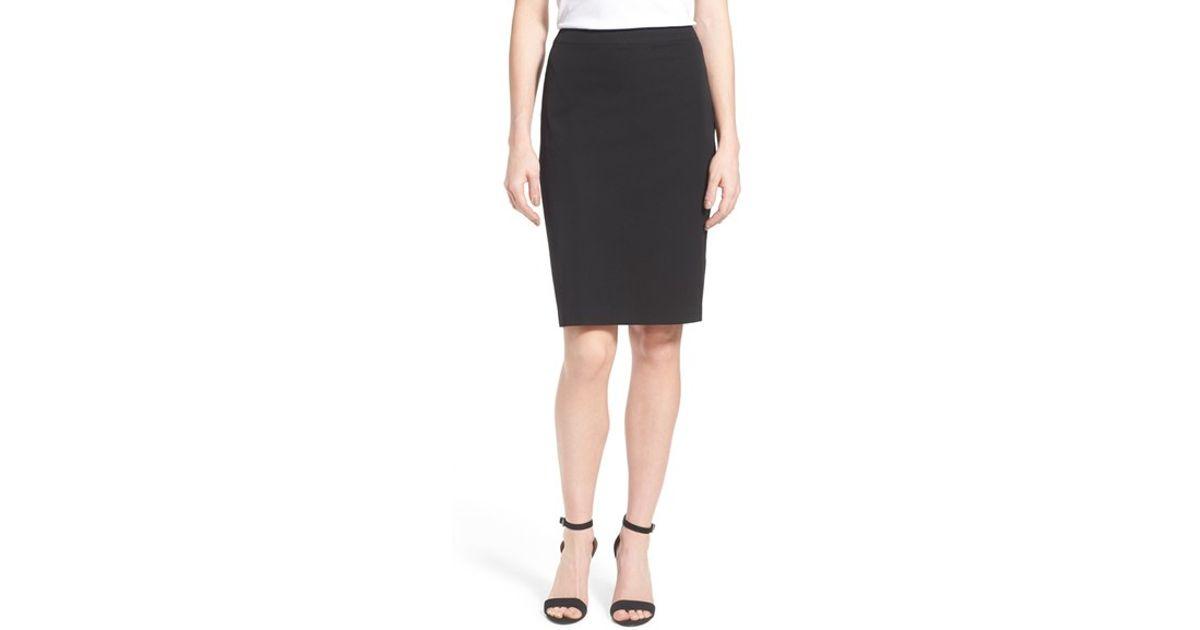 nydj stretch pencil skirt in black lyst