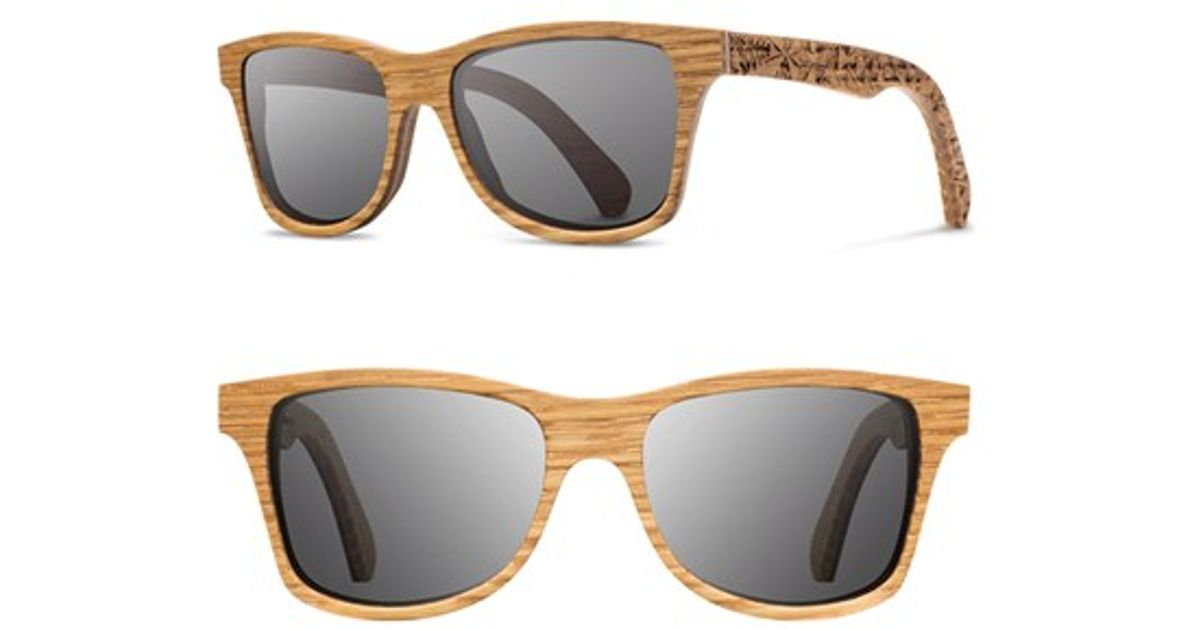 0db2d139fd Lyst - Shwood  canby  55mm Polarized Wood Sunglasses - Oak Pendleton  Grey  Polar in Brown