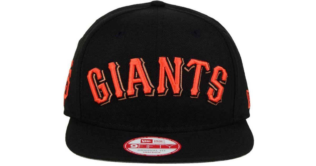 buy online 5d0d0 a1333 KTZ San Francisco Giants Xl Script 9fifty Snapback Cap in Black for Men -  Lyst