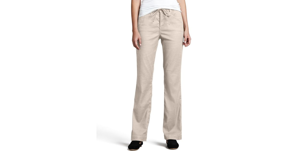 Nydj Lindsey Wide-leg Linen Pants in Natural - Lyst on