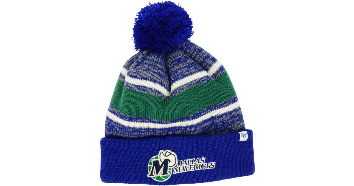 Lyst - 47 Brand Dallas Mavericks Fairfax Knit Hat in Green for Men 2a7982716bd