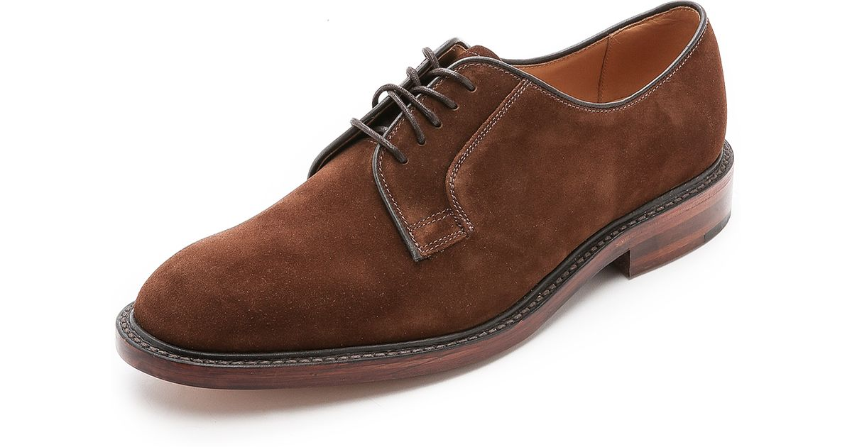 Loake Suede Perth Plain Toe Derby Shoes