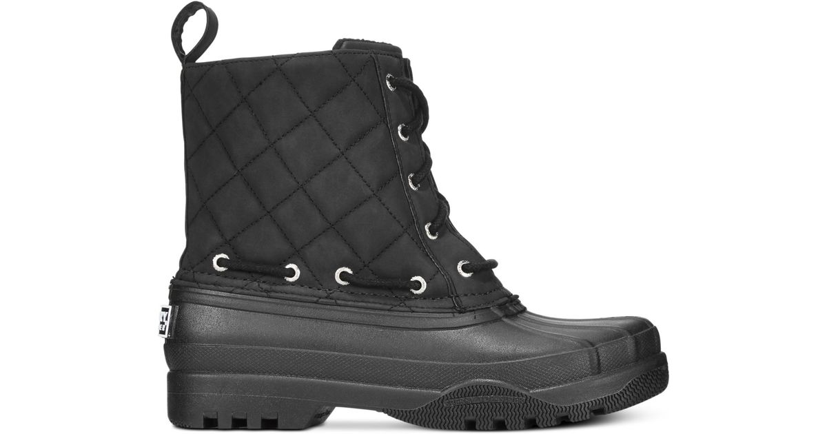 Gosling Quilted Rain Boots in Black