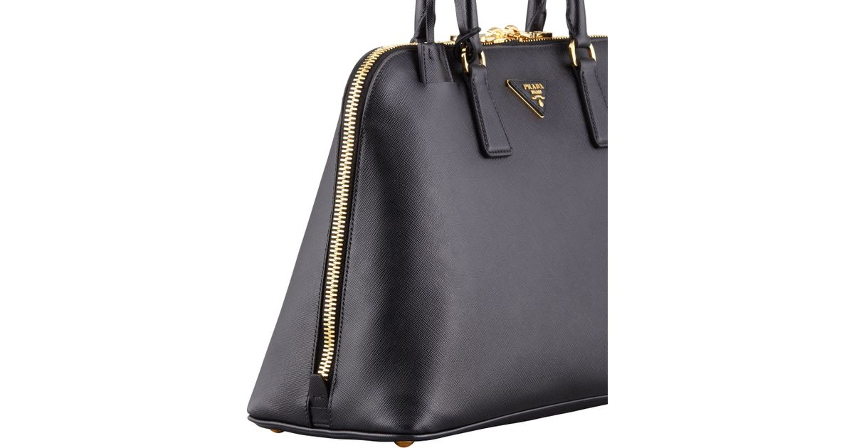 016a3e485775 Lyst - Prada Saffiano Medium Promenade Bag in Black