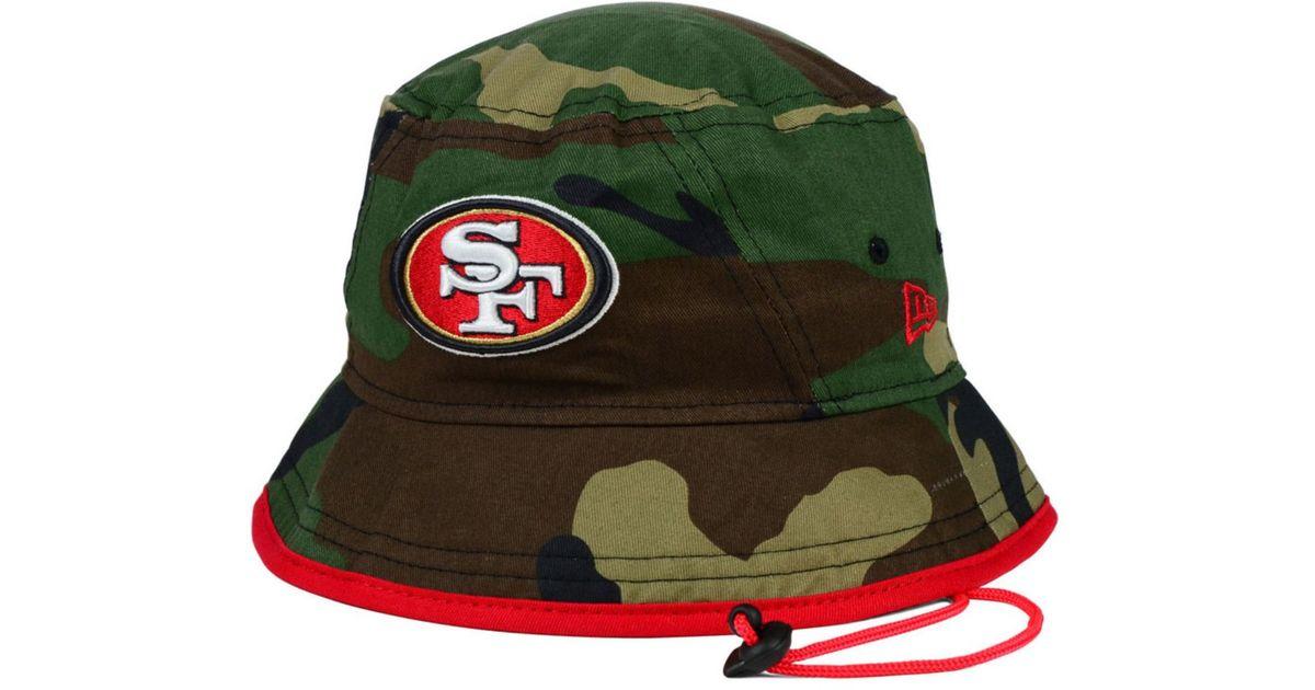1345d793077 ... new era 59fifty 47be8 da483  low cost lyst ktz san francisco 49ers camo  pop bucket hat in green for men 1cfa8