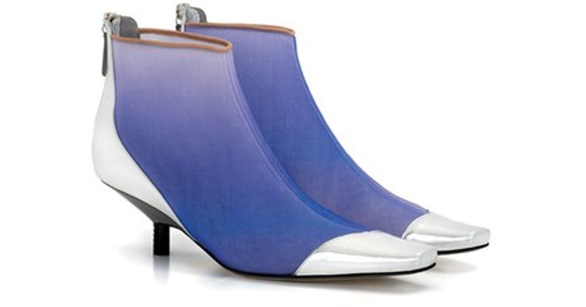 3ee3ece4b3cc8 Loewe Two-Tones Leather Chelsea Boots in Metallic - Lyst
