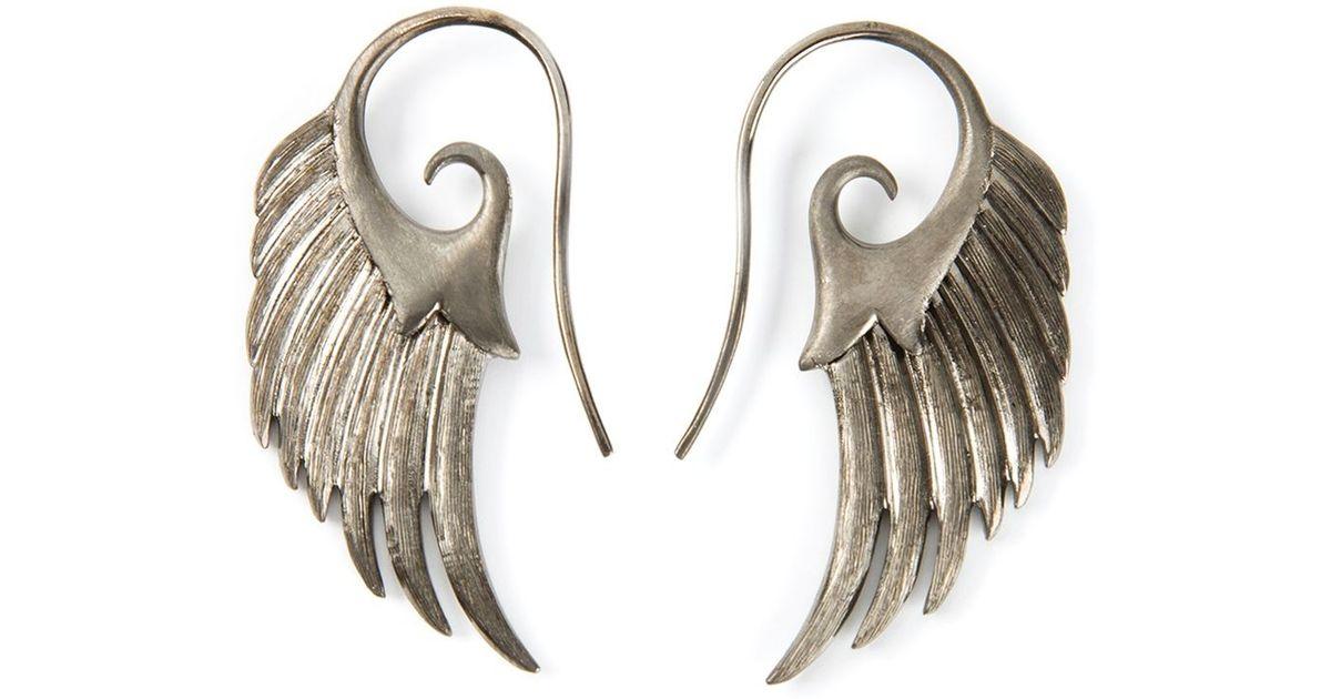 Noor Fares Metallic Wing Earrings