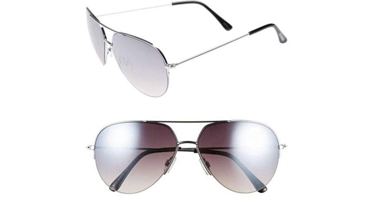 43f249ebbf2 Lyst - Steve Madden Semi Rimless Mirrored Aviator Sunglasses in Metallic