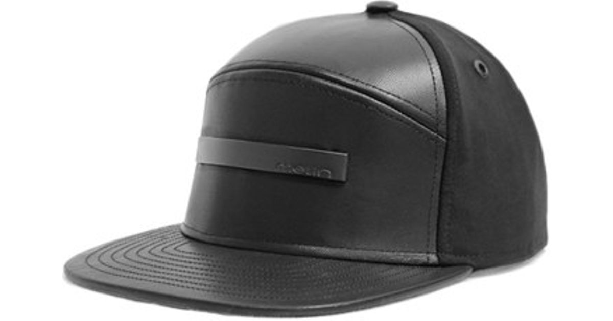 wholesale dealer 516a1 d8056 ... netherlands lyst melin the bar leather wool cap in black for men 6cddb  4bb85