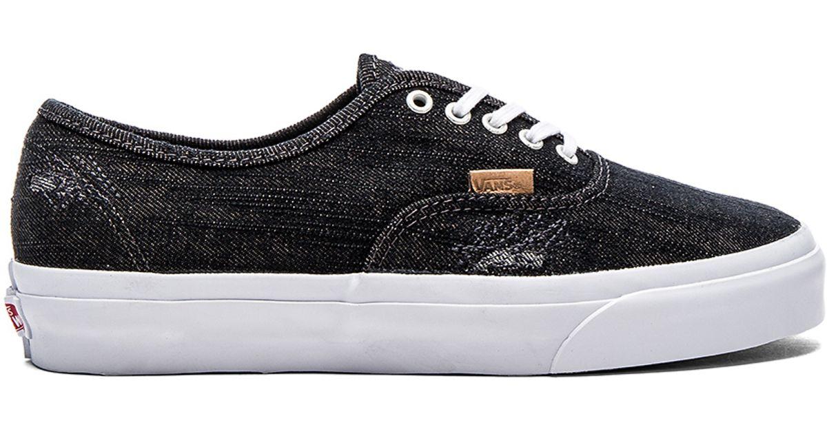 Lyst - Vans California Denim Stitch Authentic in Black 08156df57