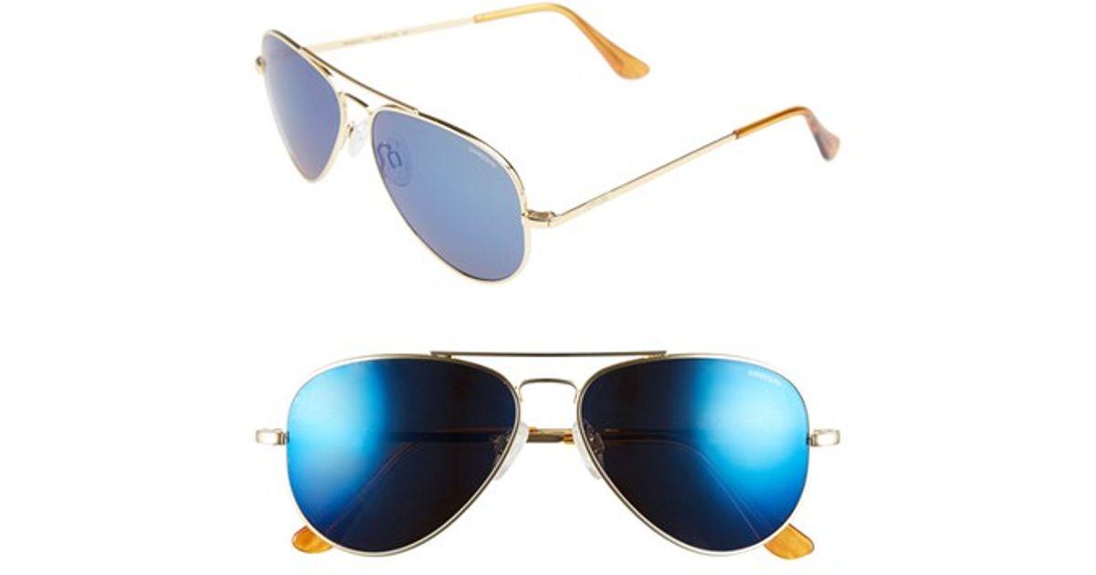 464ad58fa9 Lyst - Randolph Engineering  concorde - Flash  57mm Aviator Sunglasses -  23k Gold  Blue Flash Pc in Blue for Men